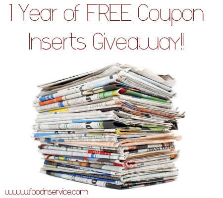 1 Full Year of Coupon Inserts Giveaway Enter & Save