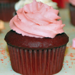 Chocolate Cupcakes with Cherry Frosting Perfect for Valentine's Day!