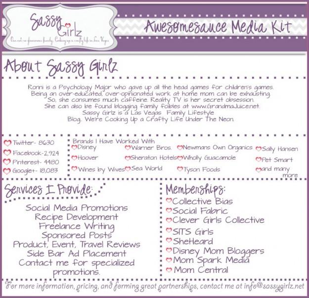Sassy Girlz Media Kit PR Info