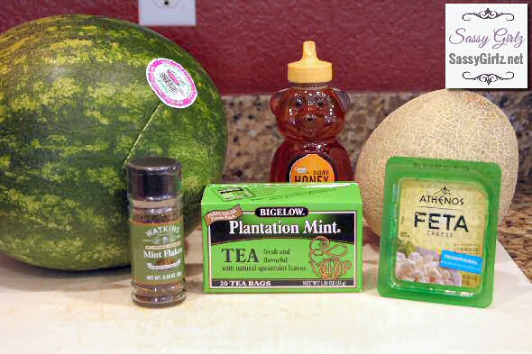Summer Salad Watermelon Feta Mint Recipe