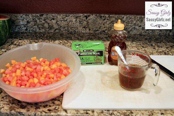Summer Salad Watermelon Feta Mint