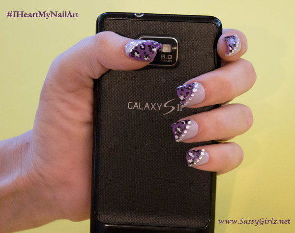 Vegas Glam Nail Art Designs Tips And Tutorial Purple Leopard Mani