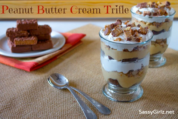 Girl Scout Cookie Peanut Butter and Cream Brownie Trifle Recipe