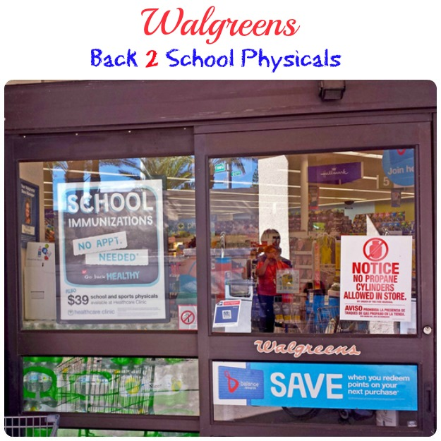 Walgreens School Physicals