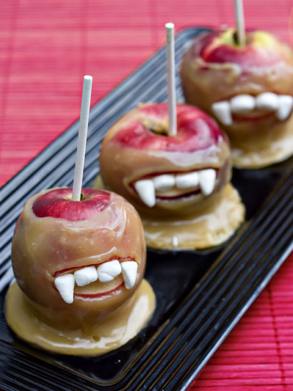 Vampire Caramel Apples