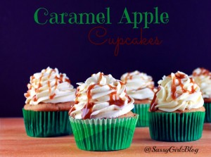 Halloween Party Ideas | Caramel Apple Cupcakes | Sassy Girlz Blog | Great Fall Desserts