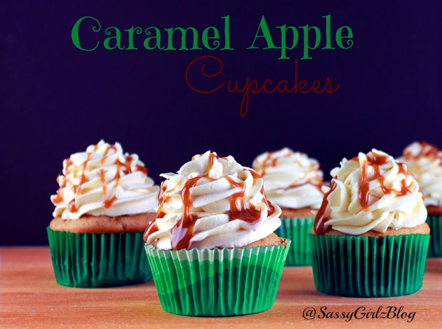 Caramel Apple Cupcakes | Sassy Girlz Blog | Great Fall Desserts
