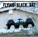 Halloween Crafts For Kids Tutorial Flying Black Bat