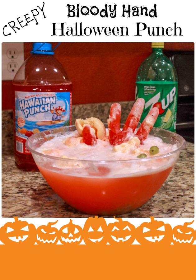 Halloween Party Ideas Bloody Hand Punch |Sassy Girlz Blog