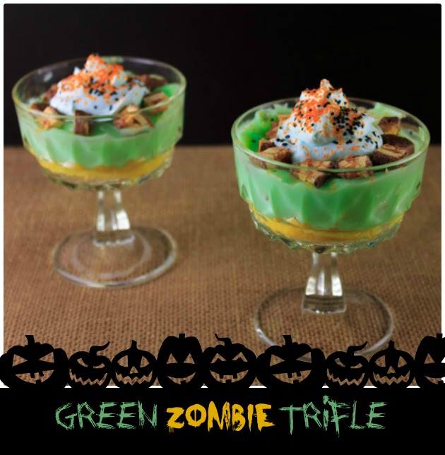 Party Ideas Green Zombie Trifle | Sassy Girlz Blog