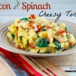 Bacon and Spinach Cheese Tortellini Bake