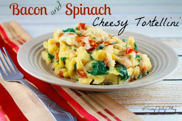 Bacon and Spinach Cheese Tortellini | Sassy Girlz Blog