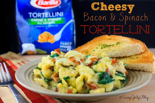 Bacon and Spinach Cheese Tortellini Bake | Sassy Girlz Blog