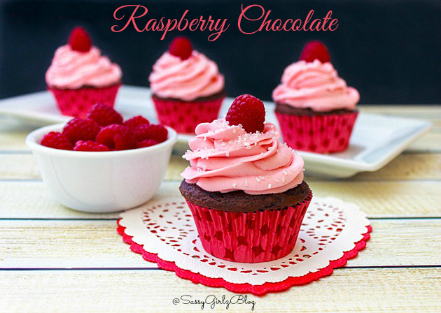 Dark Chocolate Cupcakes With Raspberry Buttercream ...