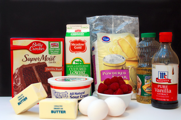Chocolate Raspberry Cupcakes Ingredients