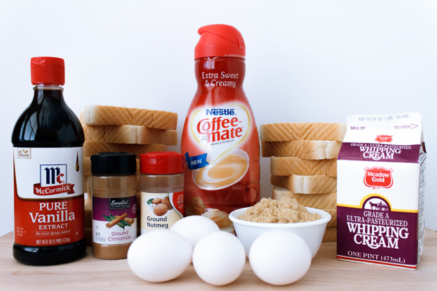 Easy Bread Pudding Ingredients