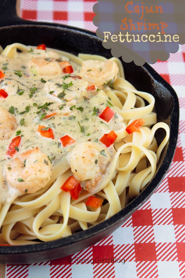Creamy Cajun Shrimp Fettuccine Recipe