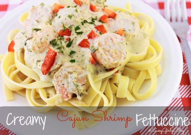Creamy Cajun Shrimp Fettuccine | Sassy Girlz Blog #15MinuteSuppers