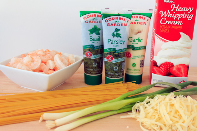 Cajun Shrimp Fettuccine Ingredients