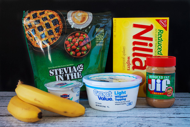 Peanut Butter Banana Cream Pie Ingredients