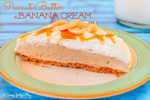 Peanut Butter Banana Cream Pie   Sassy Girlz Blog #WeightWatchers