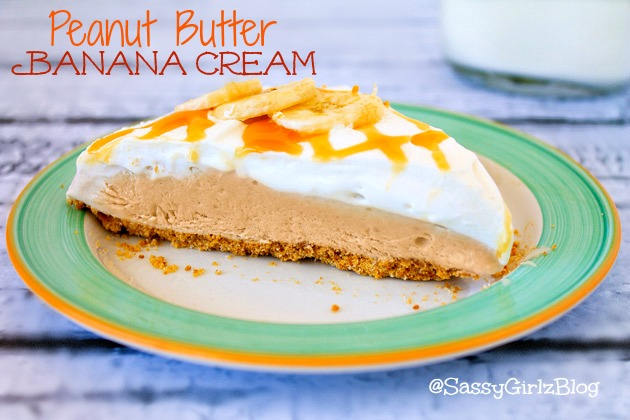 Peanut Butter Banana Cream Pie | Sassy Girlz Blog #WeightWatchers