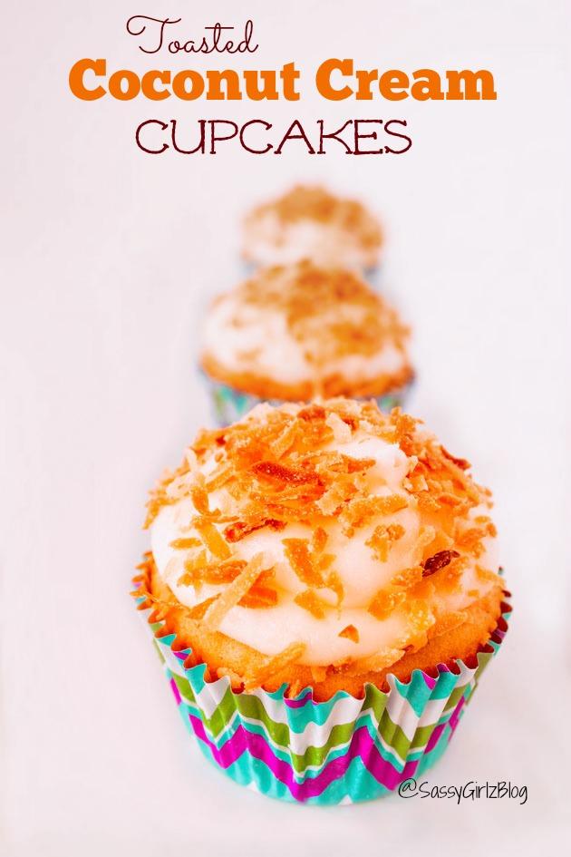 Toasted Creamy Coconut Cupcakes   Sassy Girlz Blog