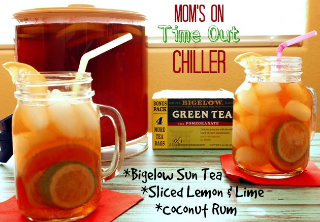 Moms On Time Out – Pomegranate Tea & Citrus Rum Chiller