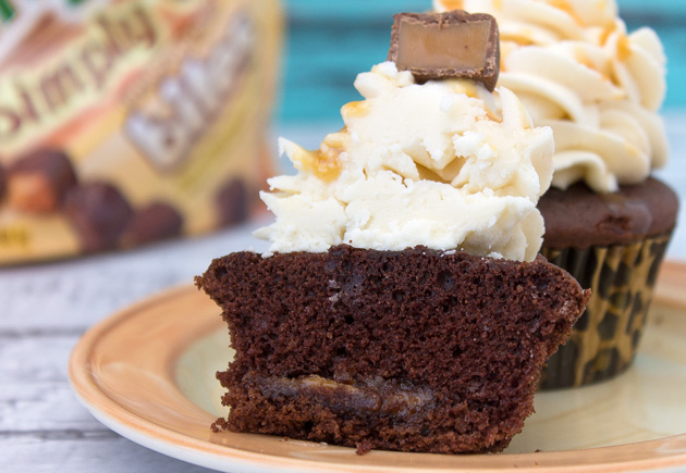Milky Way Caramel & Chocolate Brownie Cupcakes | Sassy Girlz Blog