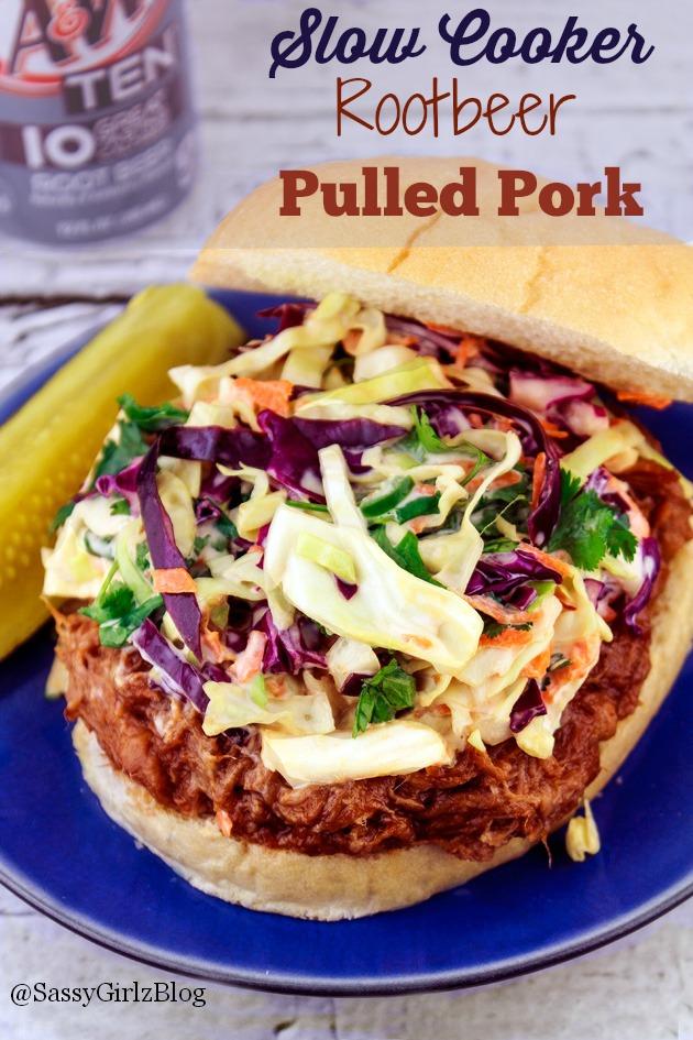 Root Beer Crockpot Pulled Pork | Sassy Girlz Blog