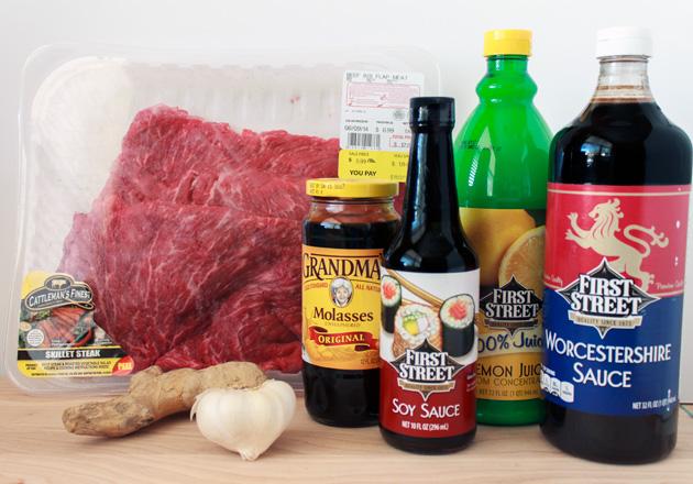 Grilled Flank Steak Ingredients