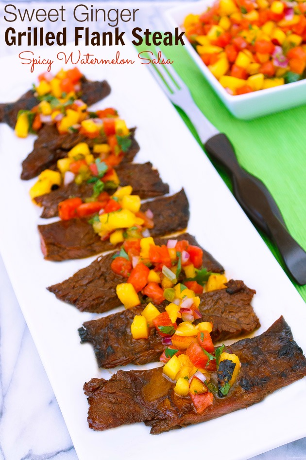 Sweet Ginger Grilled Flank Steak | Sassy Girlz Blog