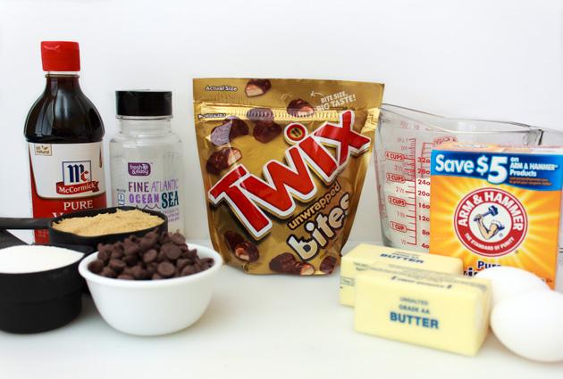 Twix Caramel & Chocolate Cookie Bars Ingredients