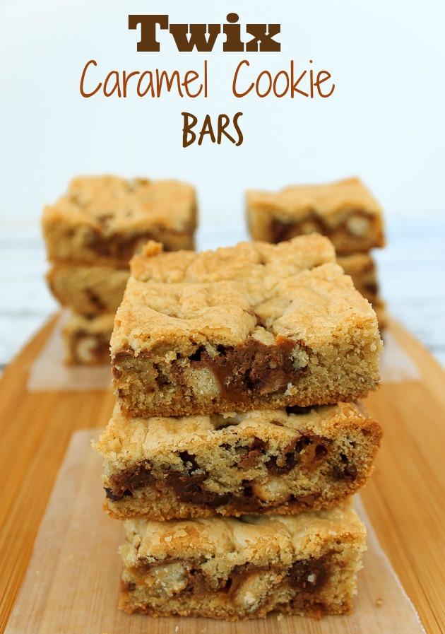 Twix Caramel Chocolate Cookie Bars | Sassy Girlz Blog