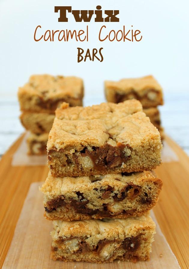 Twix Caramel & Chocolate Cookie Bars Recipe