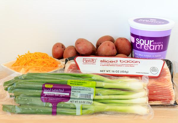 Loaded Baked Potato Salad Ingredients
