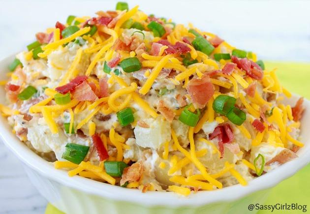 Loaded Baked Potato Salad | Sassy Girlz Blog