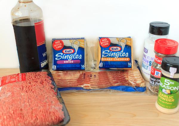 Double Stuffed Bacon Cheeseburger Recipe Ingredients