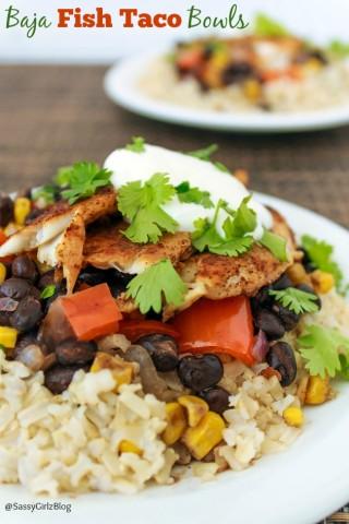 Baja Fish Taco Bowls | Sassy Girlz Blog