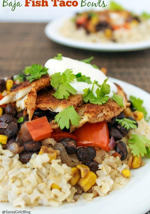 Baja Fish Taco Bowls – Easy Dinner Recipe