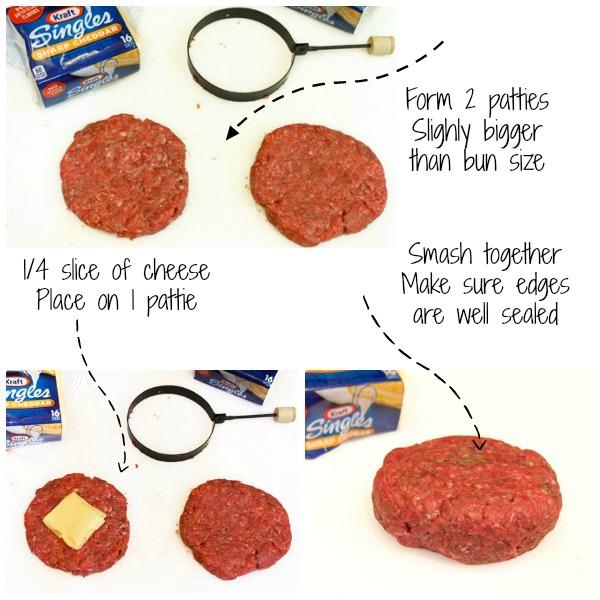 Double Stuffed Bacon Cheeseburger Directions