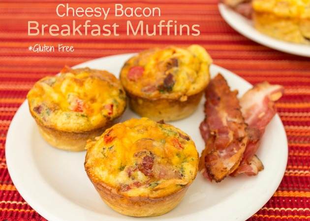 Cheesy Bacon Breakfast Muffins | Sassy Girlz Blog