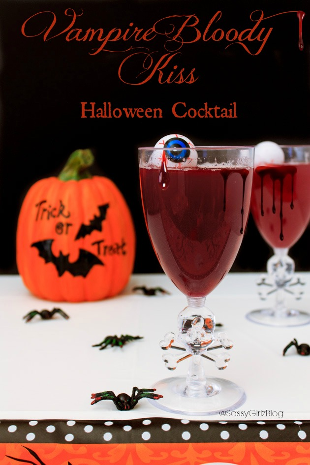 Vampire Bloody Kiss Halloween Cocktails Party Recipe | Sassy Girlz Blog