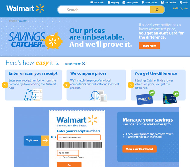 Save time amp money with the walmart savings catcher app