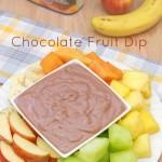 2 Ingredient Chocolate Fruit Dip Recipe