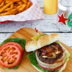 Bacon Wrapped Beer Can Burgers Recipe