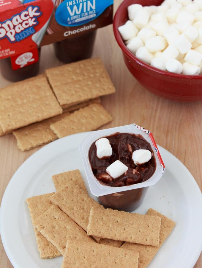 Quick After School Snack – Smore's Pudding Cup
