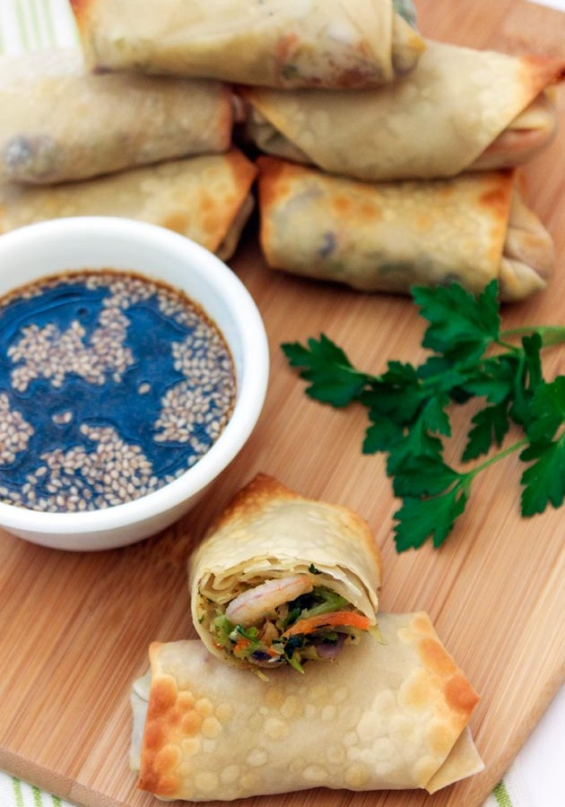 Baked Shrimp Egg Rolls Recipe