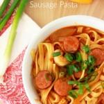 One Pot Cajun Shrimp and Sausage Pasta Recipe
